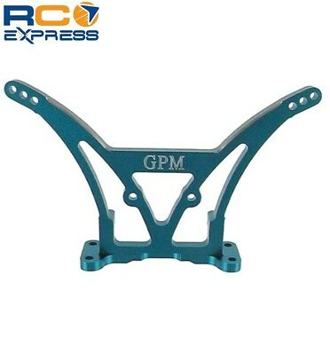 GPM Racing Associated T4 Blue Aluminum Rear Shock Tower AT4030 Blue Aluminum Shock Tower