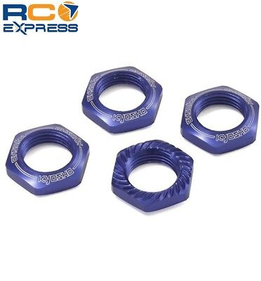 Kyosho 17mm Wheel Nut (Blue/4 pieces/Serrated) KYOIFW472BL