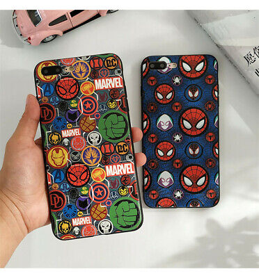 Marvel Avengers Logo Spiderman Phone Case Cover For iPhone 7/8 Plus X/XS Max/XR