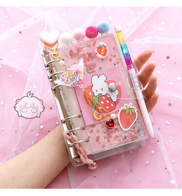 2021 Girls Cute Beautiful Year Planner Diary Journal Pink Notebook Agenda Gift