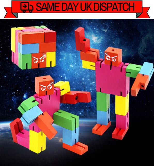 Micro Cubebot Brain Teaser Puzzle Puzzleman Jigsaw Transformer [RAINBOW]