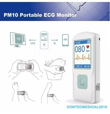 Usa Portable Color Tft-lcd Pm10 Portable Ecg Monitor Bluetooth Heart Diseaseapp