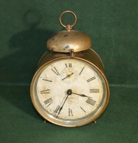 Antique Trademark A Repeater Alarm Clock_Clock Works, Alarm Doesn