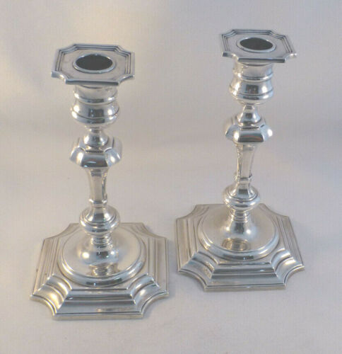 "Pair of Gorham Sterling 7"" #593 Weighted Candlesticks"