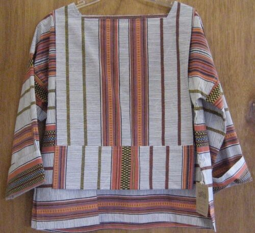 NWT African Print 100% Cotton S By Santa Fe Weaving Gallery