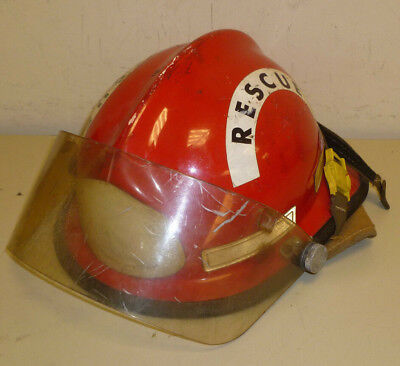 Firefighter Bunker Turn Out Gear Cairns Std 590 Red Helmet W Visor H211