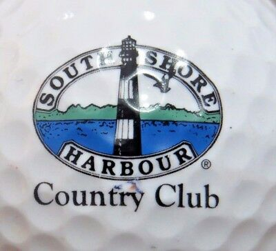 SOUTH SHORE HARBOUR COUNTRY CLUB GOLF COURSE LOGO GOLF BALL