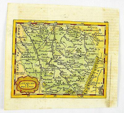LOTHRINGEN NANCY METZ TOUL VERDUN KUPFERSTICH KARTE DUVAL DU VAL 1681 #D892S
