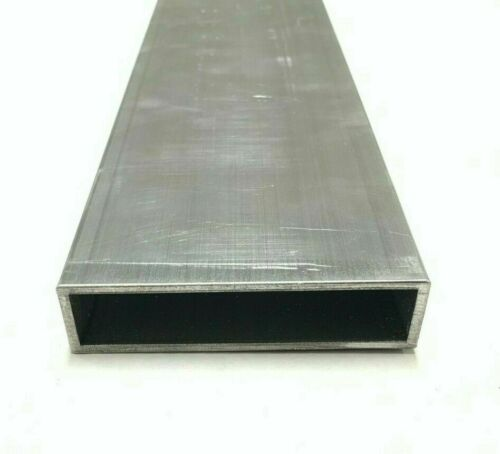 "6063 Aluminum Rectangular Tube 1"" X 4"" X .125"" Wall 84"" Piece"