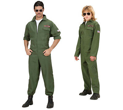 S8902 Kampfjet Pilot Kostüm - Jet Pilot Fliegeranzug - Piloten Gr. 158, S bis XL