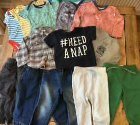 6-12 month baby boy clothing bundle