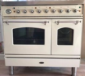 Beautiful Cream Britannia Range Cooker 90cm Wide Dual Fuel Vgc £295 Sittingbourne