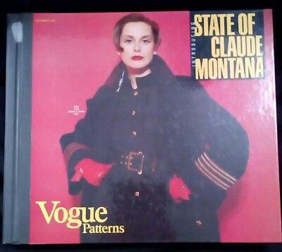 Vintage VOGUE Dec 1993 Sewing PATTERN COUNTER CATALOG Store Book Retro Fashion