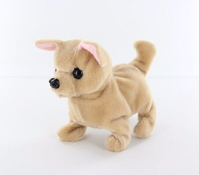 NEW KID'S BATTERY OPERATED BARKING WALKING WAGGING CUTE CHIHUAHUA PUPPY DOG TOY