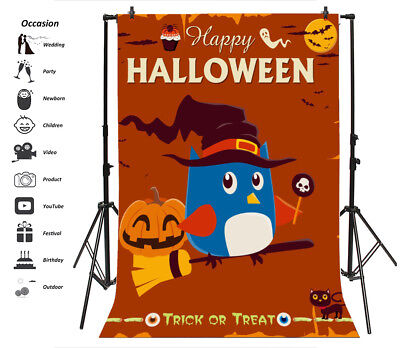 Vintage Halloween Character Poster Props Background 6x9ft Photography Backdrop