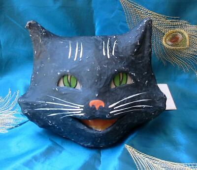 Bethany Lowe Halloween Happy Cat Bucket Lantern New Paper Mache