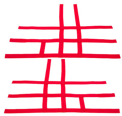 Raptor 700 660  Nerf Bar Nets  Fits Alba Tusk  with heel guards    Red J