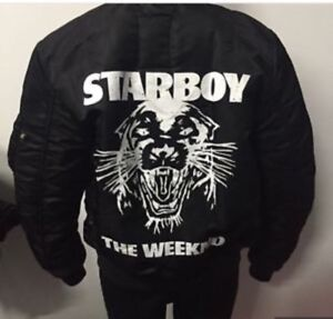 The Weeknd X Alpha Industries STARBOY Bomber Jacket.