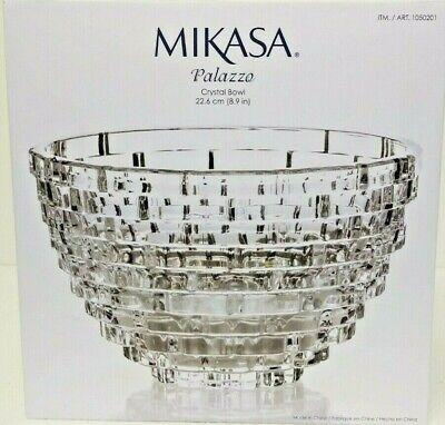 New Mikasa Palazzo Crystal Bowl 8.9