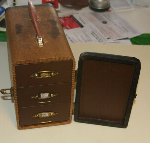 1950s BARNETT & JAFFE Drawer Slide Storage Carrying Case