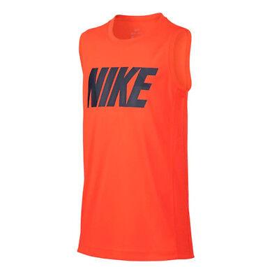Boys Muscle Tee - Boys 8-20 Nike Legacy Muscle Tee Neon Orange NEW