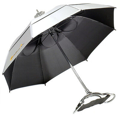 NEW! Gustbuster Spectator UV Blocking Umbrella Seat Chair Sunblock Walking Stick ()