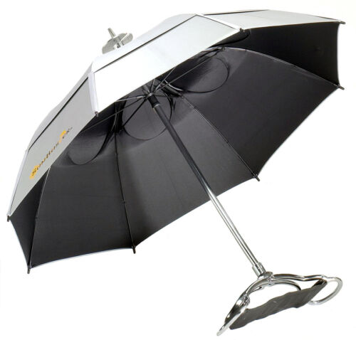 NEW! Gustbuster Spectator UV Blocking Umbrella Seat Chair Sunblock Walking Stick