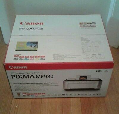 Canon Pixma MP980 Photo All-In-One Wireless InkJet Printer Sealed