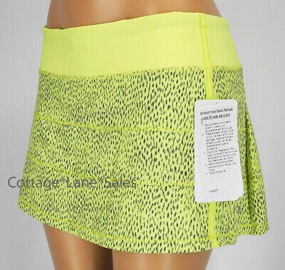 NEW LULULEMON Pace Rival Skirt Reg 2 6 8 10 12 Dottie Dash Clarity Yellow Black