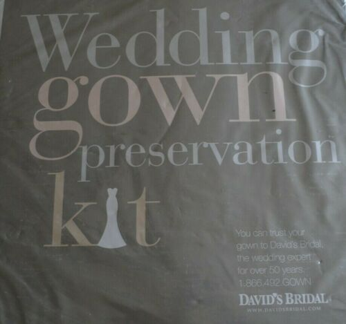 Wedding Gown Preservation Kit from Davids Bridal - Dress Storage MSRP $189