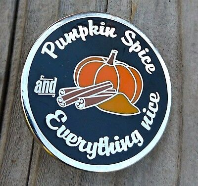 Pumpkin enamel pin | Pumpkin spice and everything nice lapel pin Fall halloween - Everything Fall And Halloween