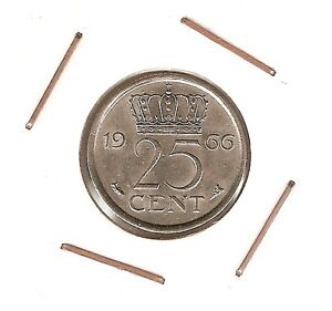 Netherlands-25-Cents-1966-XF