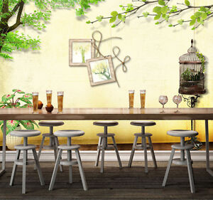 3D Birdcage Frame 25 Wall Paper Wall Print Decal Wall Deco Indoor AJ Wall Paper