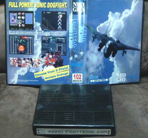 SNK (Original) Neo Geo MVS Aero Fighters 2 (Sonic Wings 2) Game with Shock Box