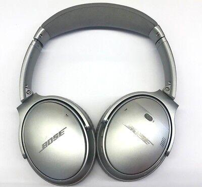 Bose Quiet Comfort 35 QC35 WIRELESS  Headphones -Silver - (16-6E)