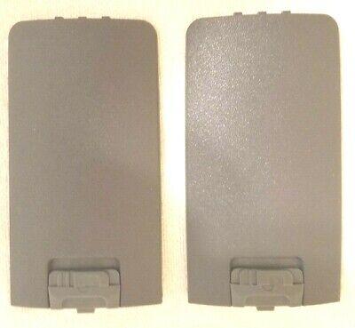 Motorola Oem Qty. 2 Dtr Gray Battery Door Nntn 6389a For Dtr410-dtr550-dtr650