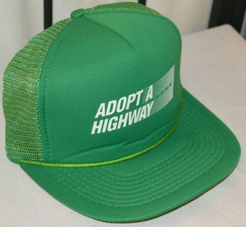 Vtg MARYLAND ADOPT A HIGHWAY HAT Baseball Cap BALTIMORE CITY Md Trucker RARE