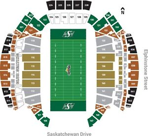 TWO ROUGHRIDER VS BOMBERS TICKETS for Canada Day!!