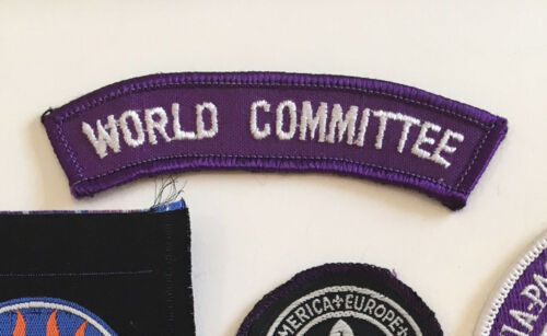 World Committee Shoulder Strip 1980 -1990s  1 badge only