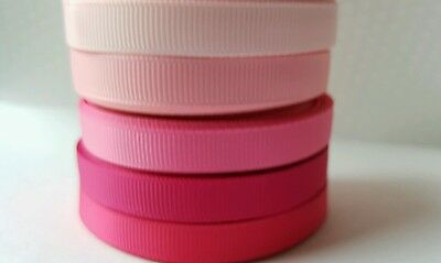 "wholesale 3/8 "" grosgrain ribbon lot  50 yards -10y each for hairbow pink shades"
