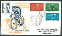 1962 Italia Fdc Re.ru. Mondiali Di Ciclismo No Timbro Arrivo - Ki8-4 - mondi - ebay.it