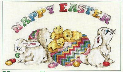 **HAPPY EASTER TO CROSS STITCH-PATTERN ONLY**CROSS STITCH PATTERN**