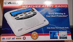 Midland WR120EZ Weather Alert Radio/Alarm Clock3AA For Backup-not included