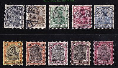 GERMANIA SERIES: 52,65C,80,96,118 (5) COMPLETE SETS