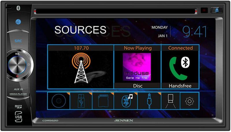 "Jensen CDR5620 6.2"" 2-Din DVD Touchscreen Car Stereo Multimedia Digital Receiver"