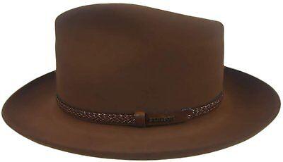 Stetson Hat Company (John B. Stetson Company Setson Men's Walnut Emmett Fedora Hat 7 1/8