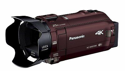 Panasonic HC-WX970M 64GB 4K Video Camera Camcorder NTSC -Brown- *Free Shipping*