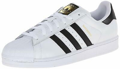 adidas Originals Men's Superstar Running Shoe, White/Black/White, Size 20.0