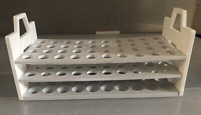 Polypropylene 40-position 13-16mm Test Tube Rack Support Holder Handles