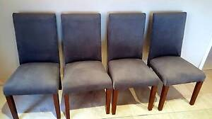 4x Grey high back dining chairs, as new condition Arncliffe Rockdale Area Preview